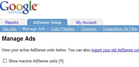 adsense manage include funkcija