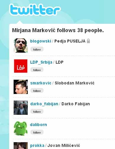Mira Markovic prati LDP